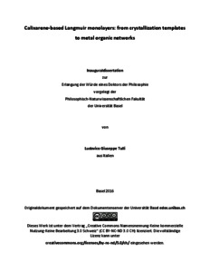 Calixarene dissertation